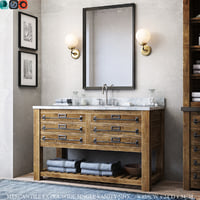 3D model mercantile extra-wide single vanity