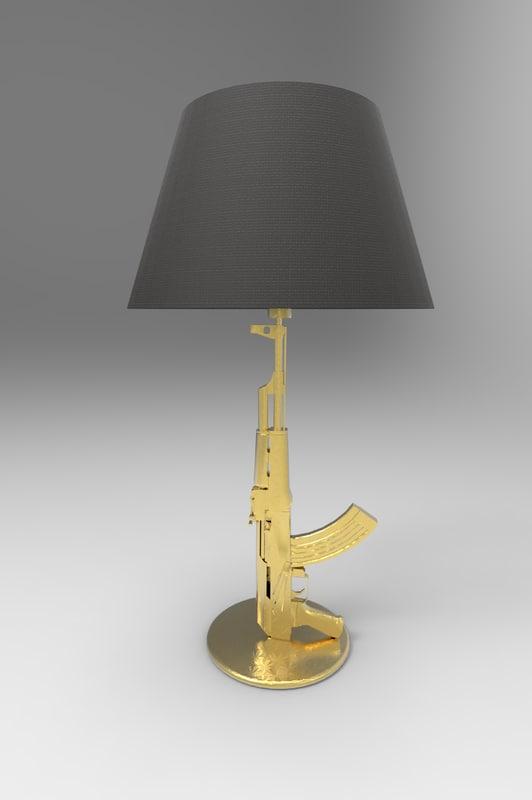 gun lamp starck 3D model
