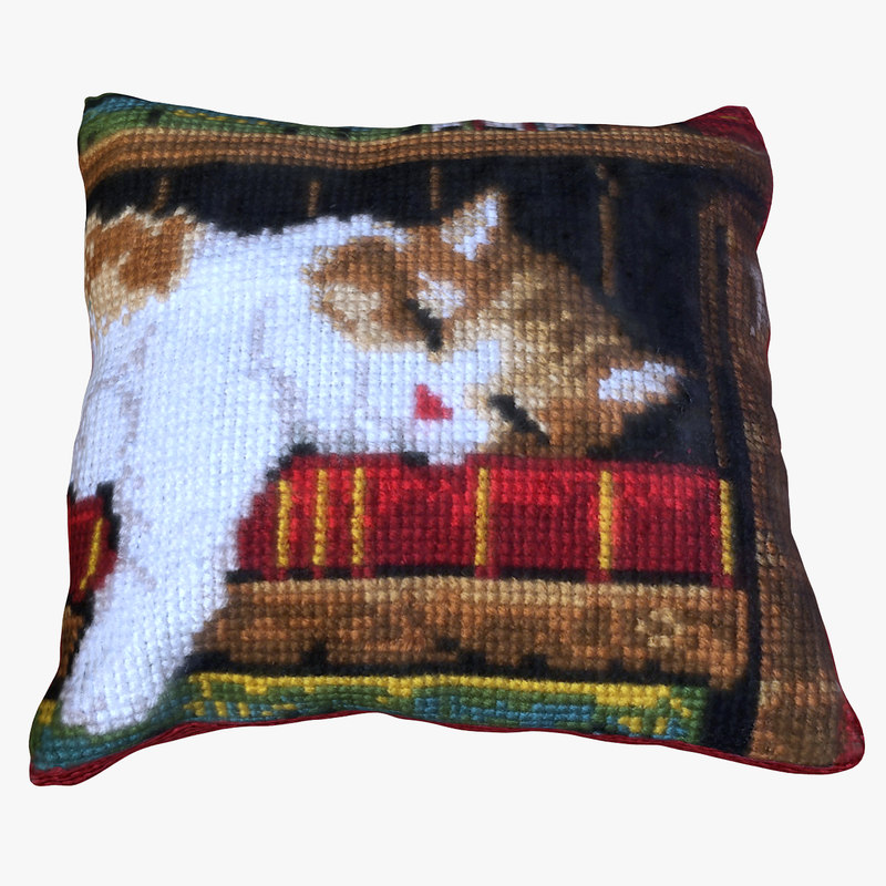 3D pillow cat