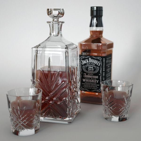 whiskey decanter 3D model