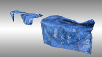 Blue tarp set 2 - PBR low poly.
