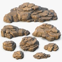 Rock Formation Set ( Vray + PBR )