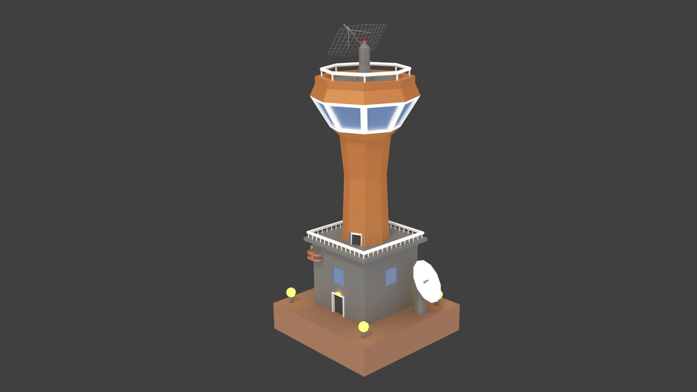 3D model humans colony towers