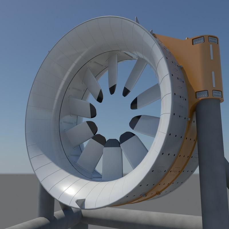 3D model marine turbine