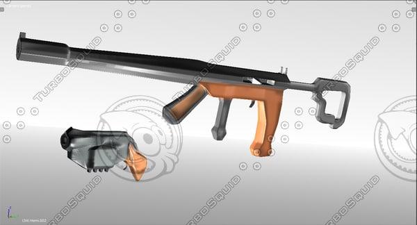 3D fusil revolver