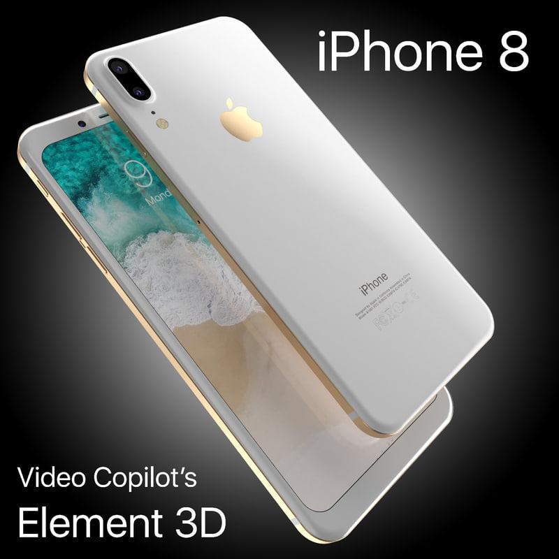 apple iphone 8 x 3D
