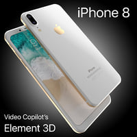 apple iphone 8 x 3D