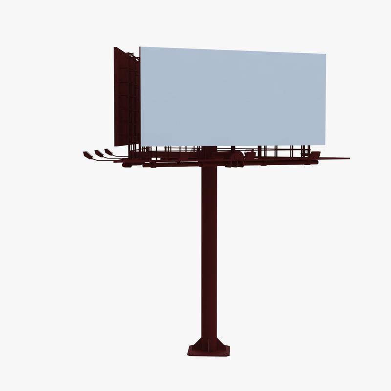 3D billboard 3 red