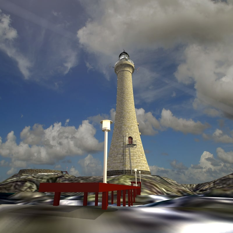 skerryvore lighthouse version 3D