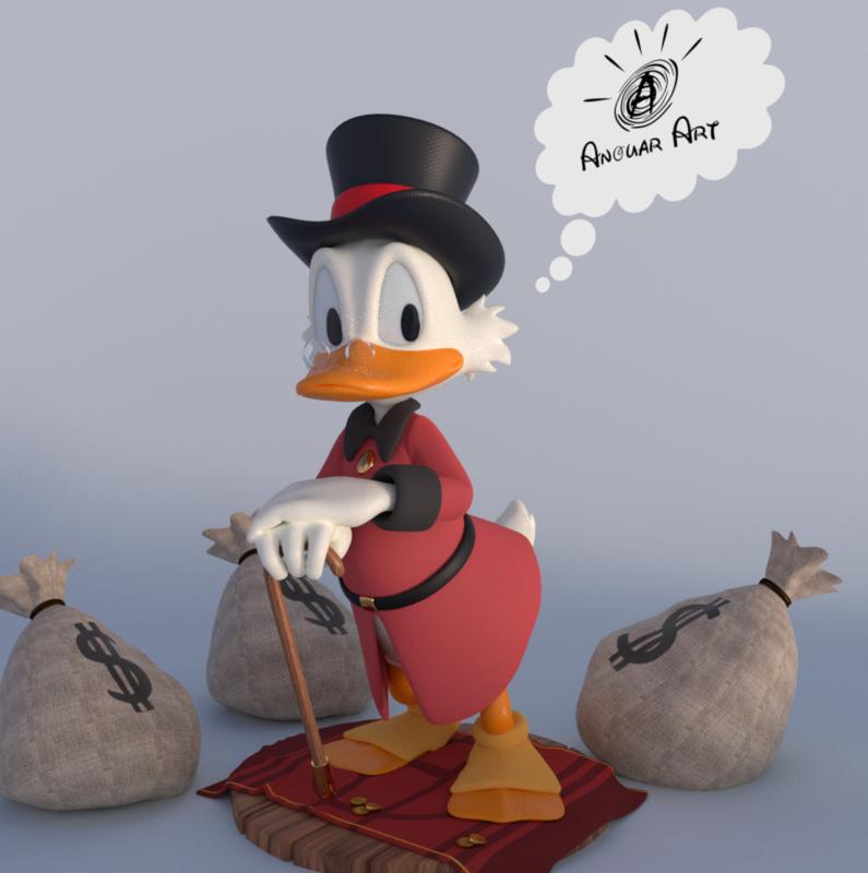 cartoon duck 3D model
