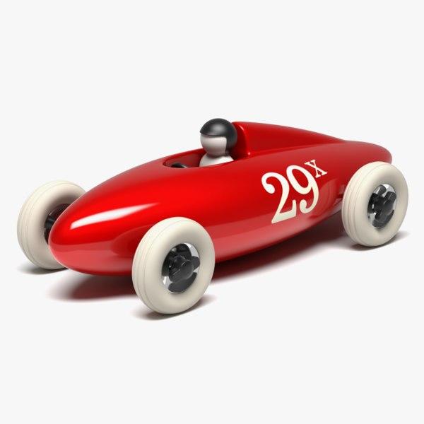 3D model belly tank racer