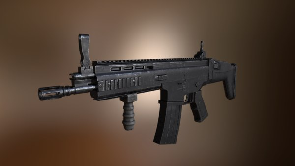 scar h assault rifle 3D model