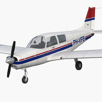 private aircraft piper pa-28 3D