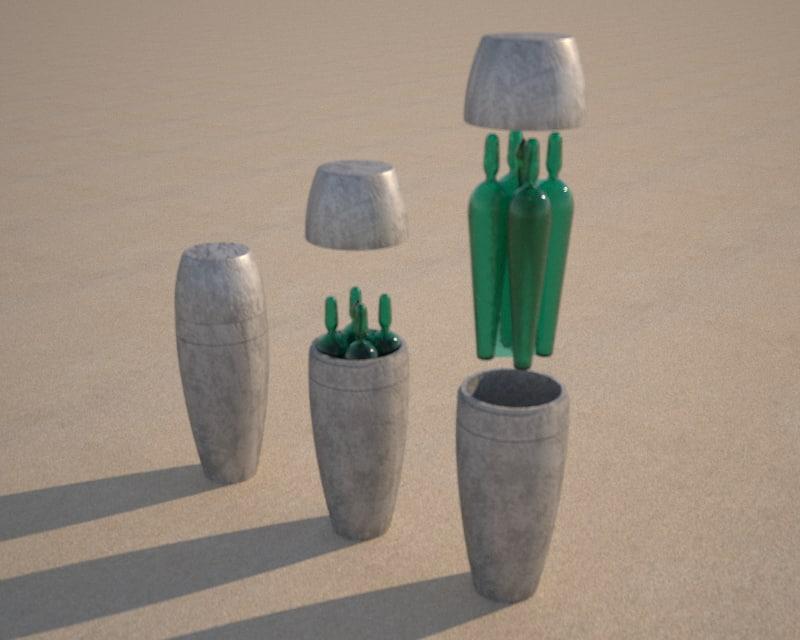 3D black goo vase prometheus