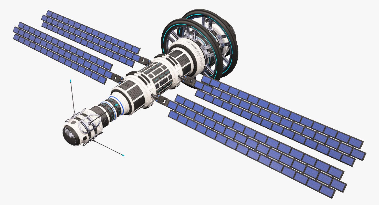 sci fi satellite 02 3D model