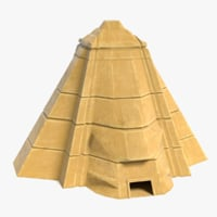 3D fantasy pyramid model