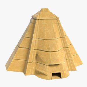 3D fantasy pyramid model