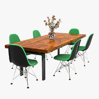 3D dining set table