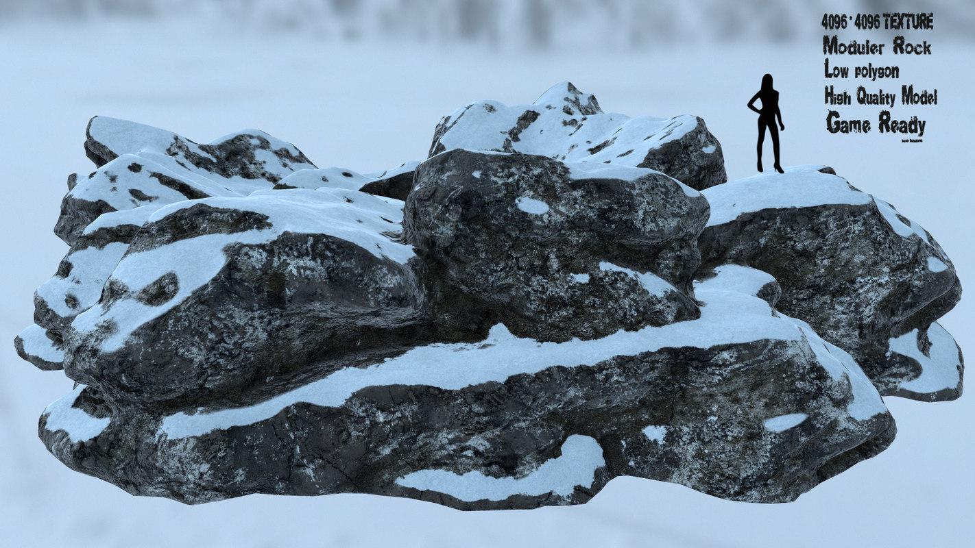 rock snow 3D