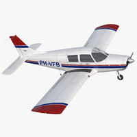 3D model private aircraft piper pa-28