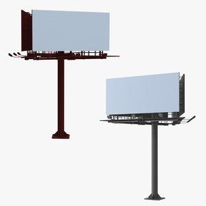 3D billboard 3 model