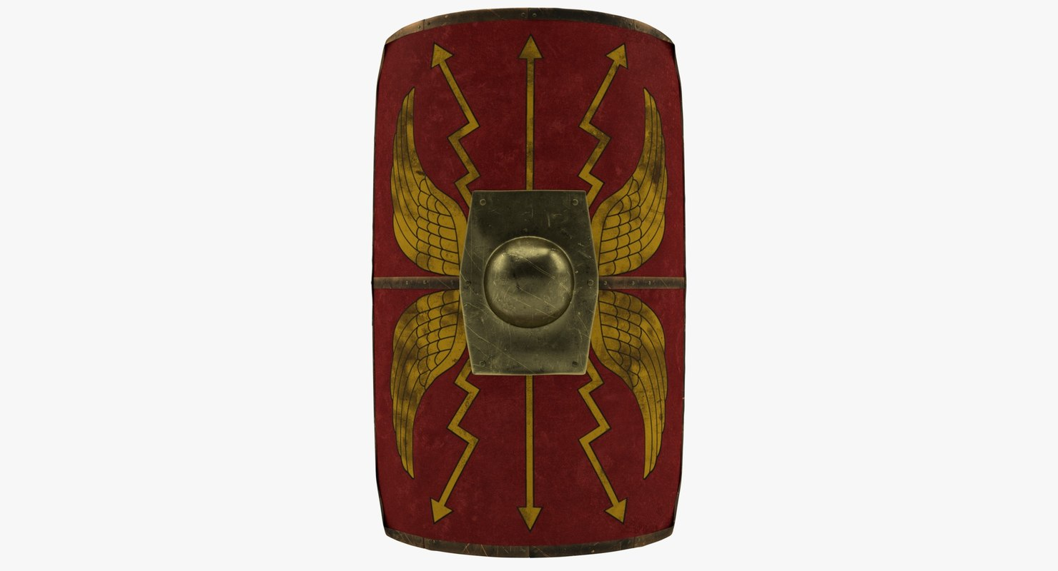 roman shield scutum 3D model