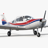 3D piper pa28-161 cherokee rigged