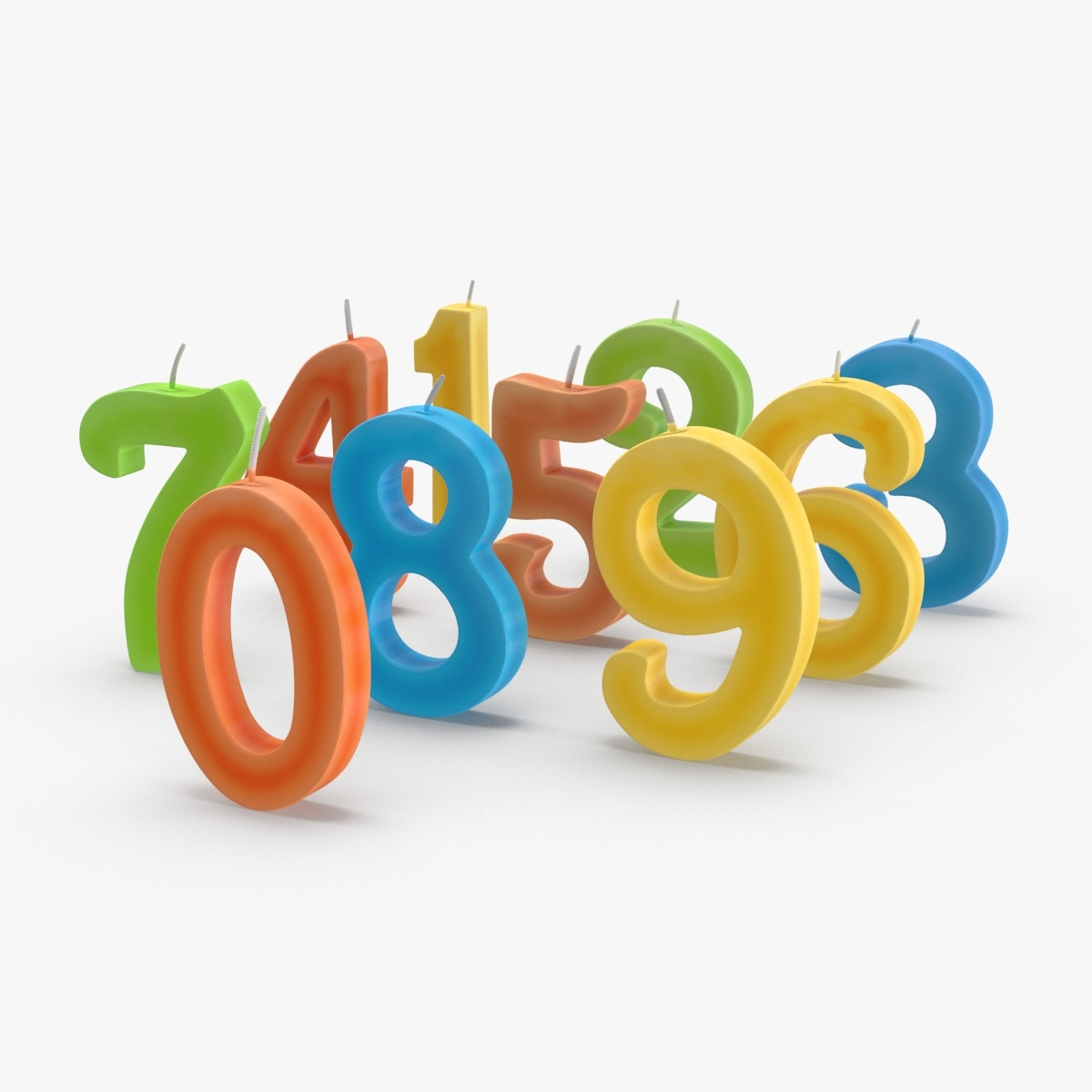 numbered-birthday-candles---combined-unlit 3D