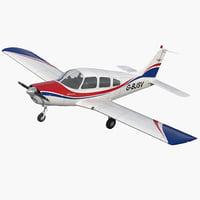 piper pa28-161 cherokee 3D model