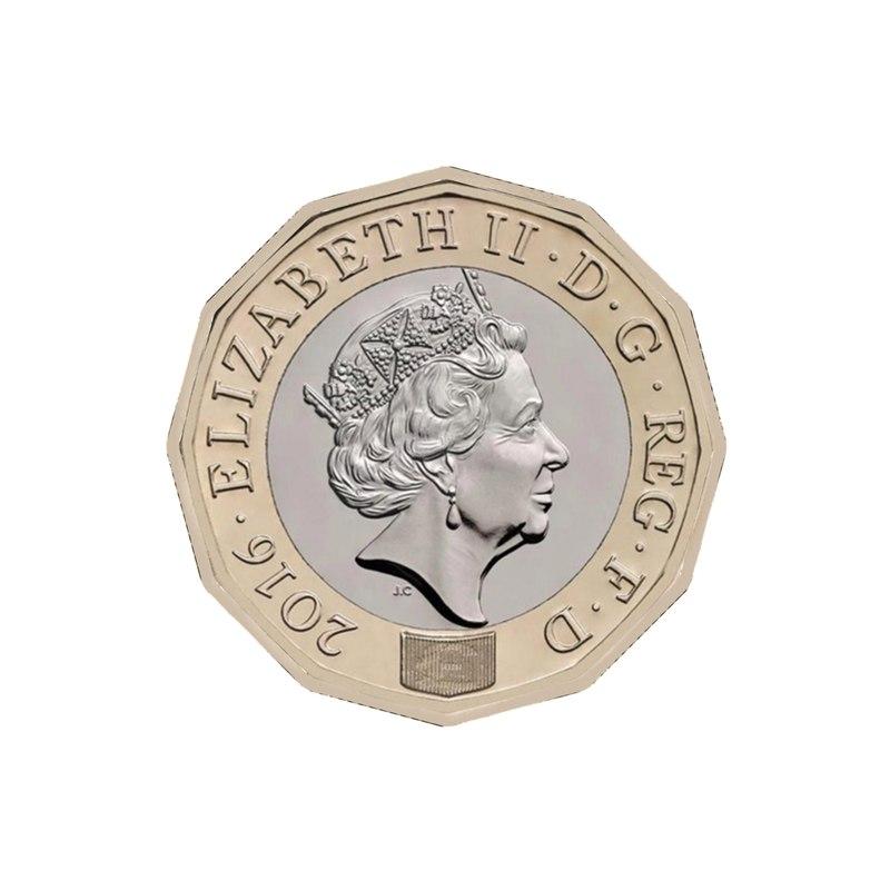 3D new british pound coin