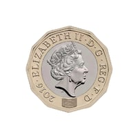3D new british pound coin