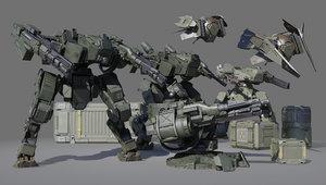 3D sci-fi military
