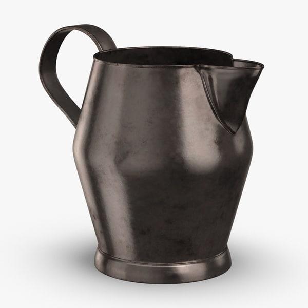 pewter-pitchers---dark-stout-pitcher 3D model