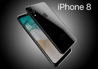 apple iphone8 2017 rounded 3D model