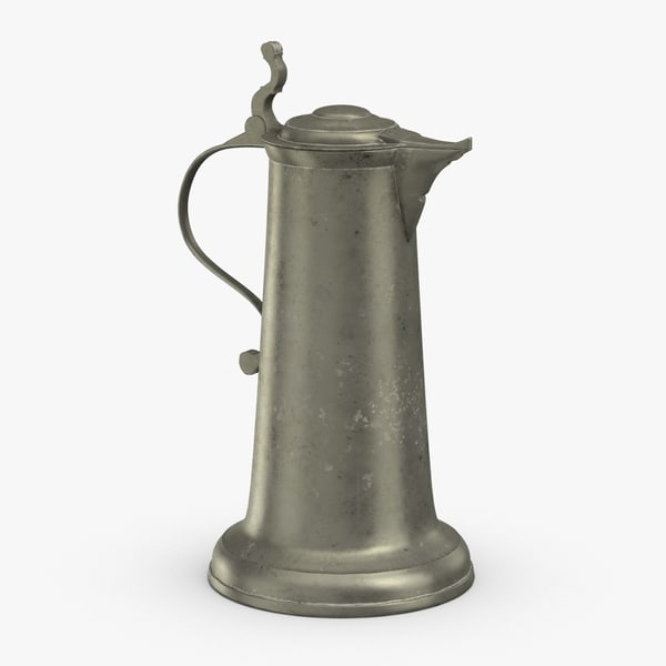 pewter-pitchers---tall-pitcher 3D model