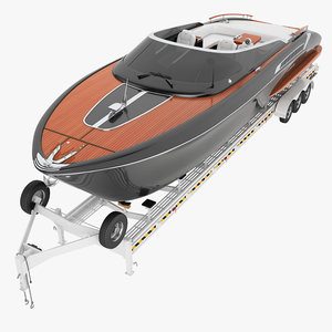 yacht trailer riva 3D model
