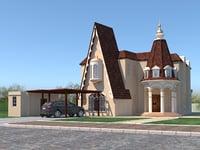 3D russian house model