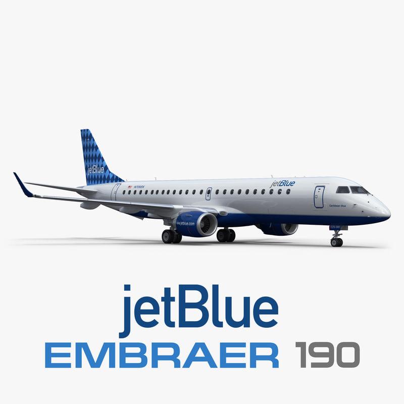 embraer erj-190 jetblue 3D model