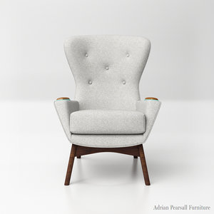 3D adrian pearsall wingback chairs