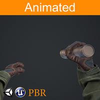 3D hands flashlight