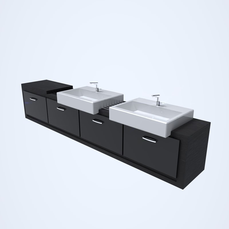 sink cabinet 3D