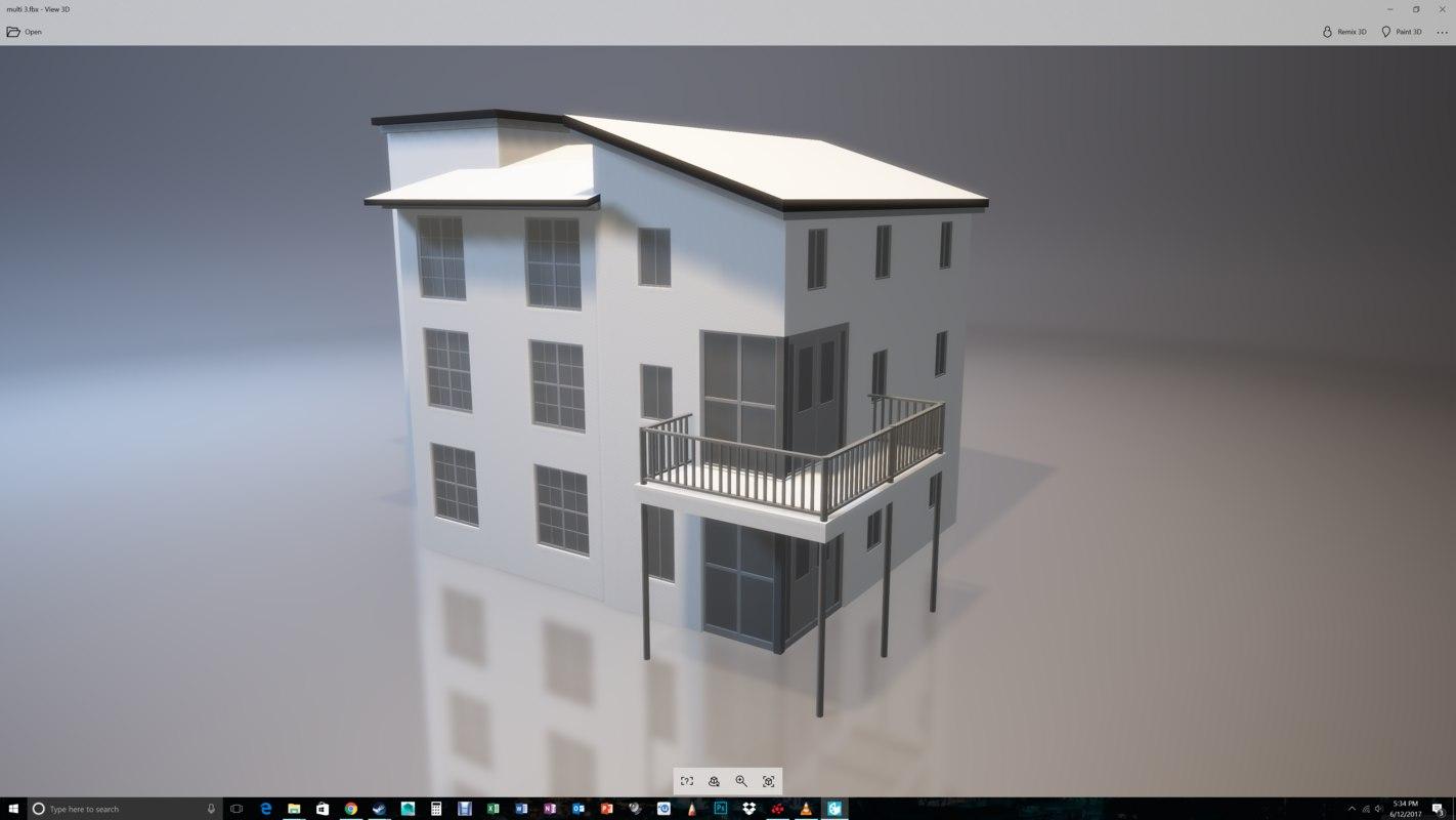 3D apartment complex