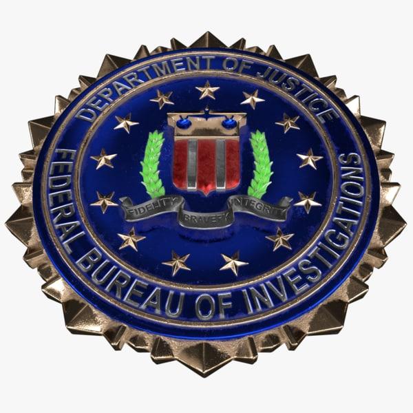 fbi crest logo 3D model