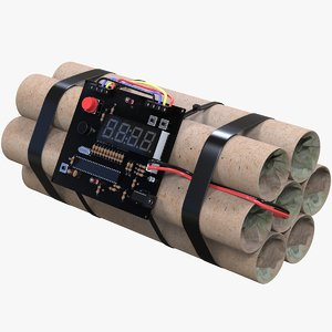 3D bomb wecker model