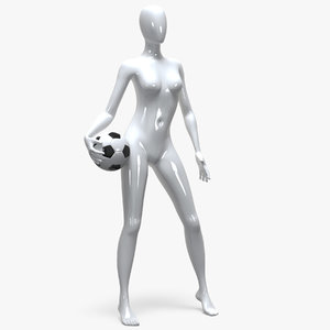 3D female mannequin model