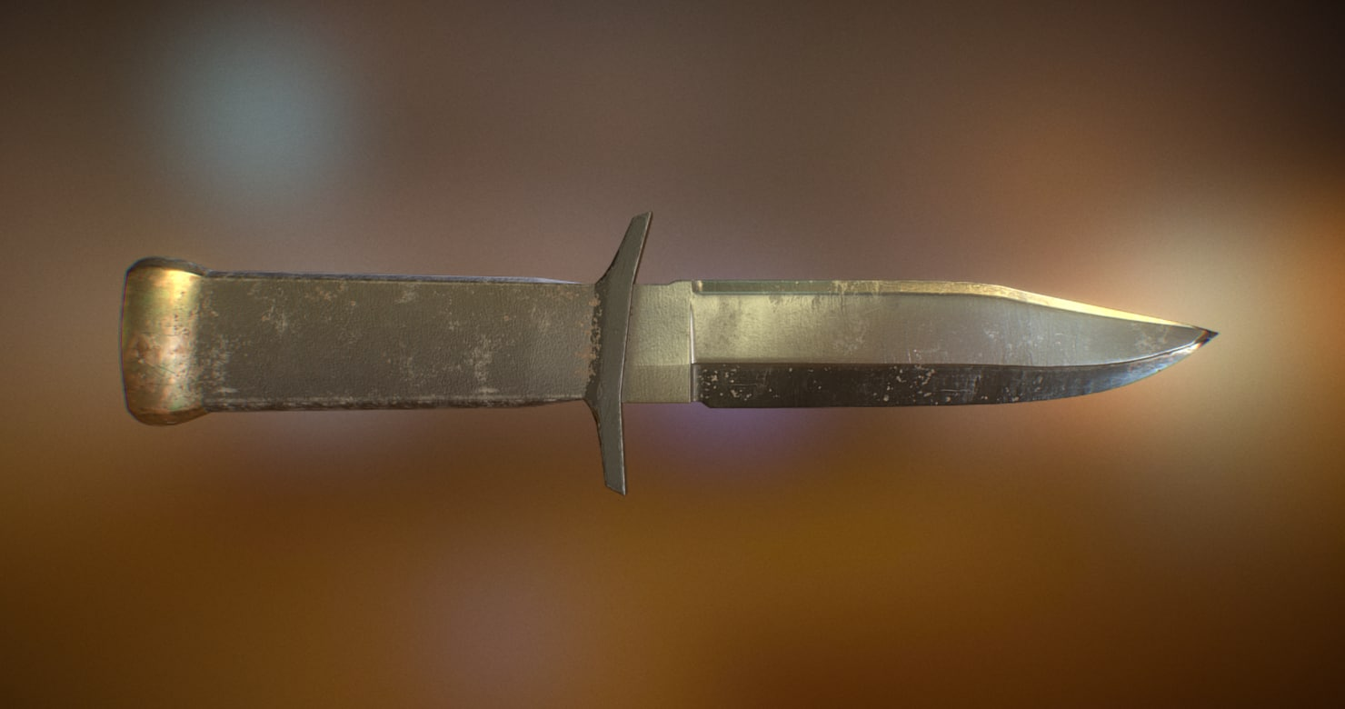 military combat knife 3D