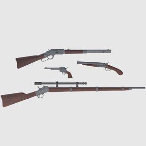 3D wild west weapons combination