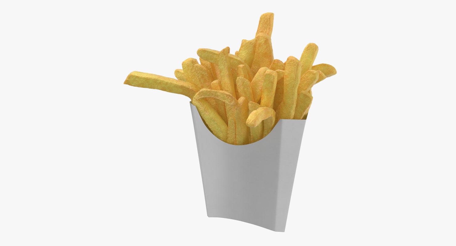 fries box 01 3D