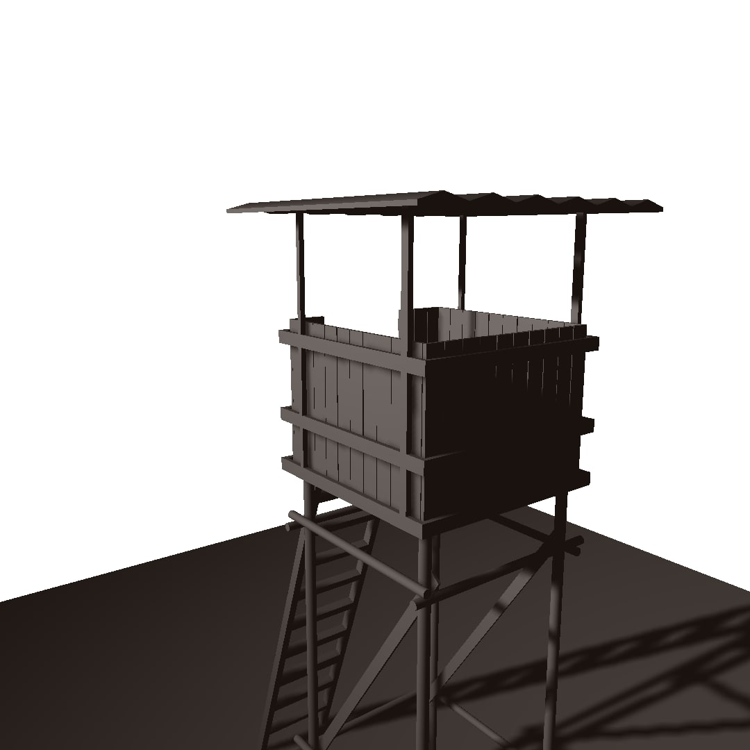 outpost wooden 3D model