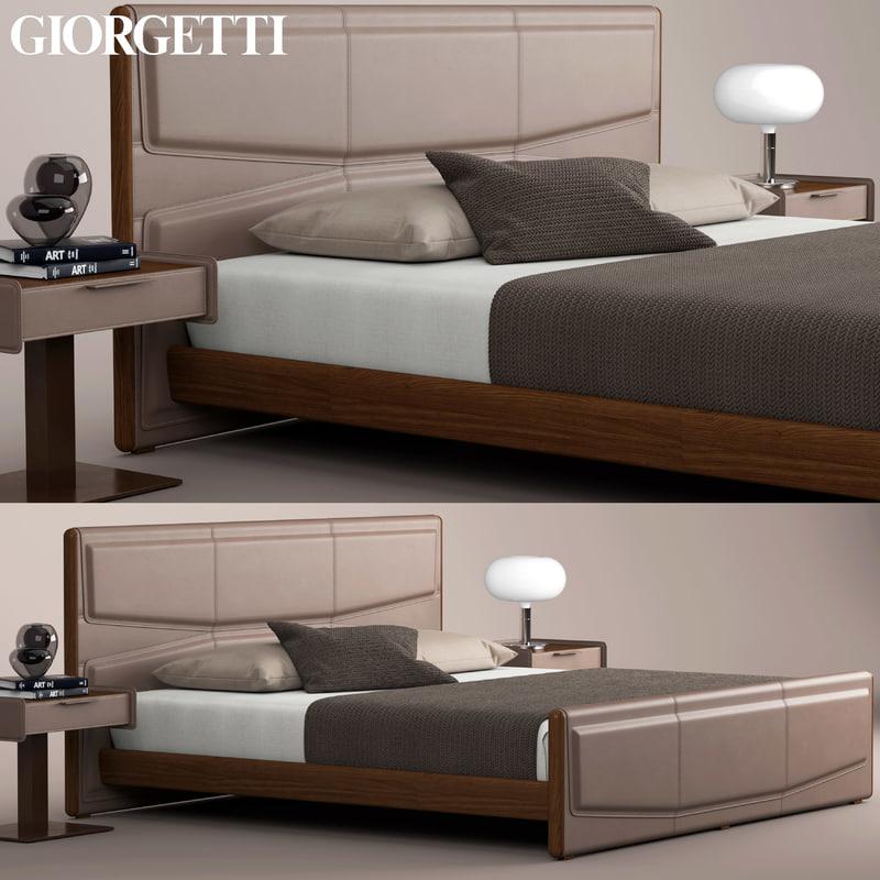 3D giorgetti pochette beds model